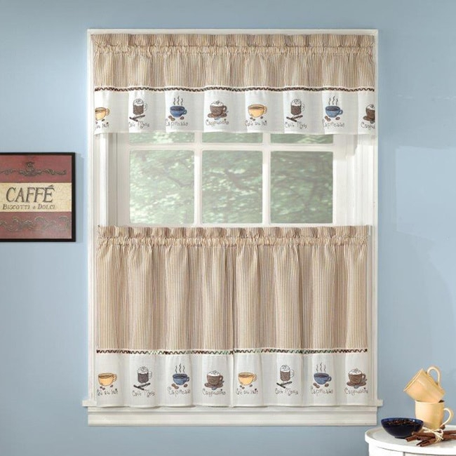 Favorite Coffee Drinks Embroidered Window Treatments Valance Within Coffee Drinks Embroidered Window Valances And Tiers (View 21 of 45)