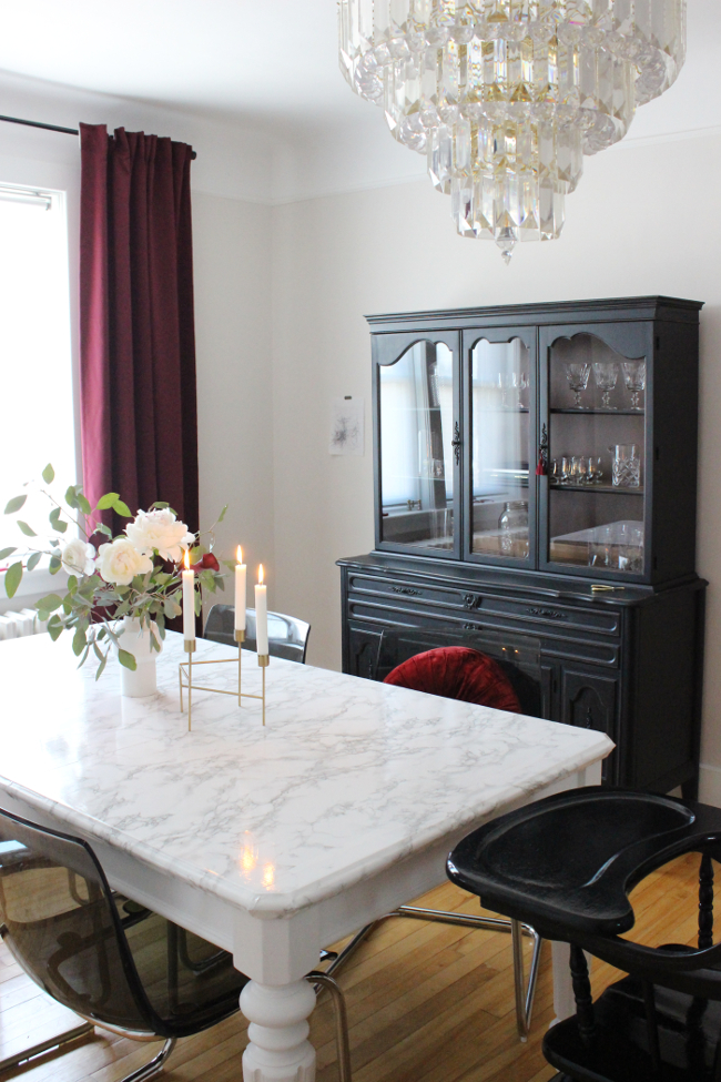 Favorite Updating (And Childproofing) Our Secondhand Dining Table Intended For Chapman Marble Oval Dining Tables (View 9 of 30)