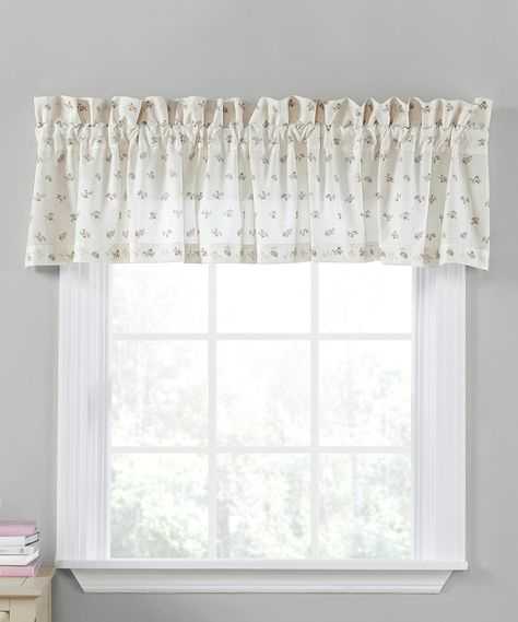 Floral Valance | Products | Valance Curtains, Laura Ashley For French Vanilla Country Style Curtain Parts With White Daisy Lace Accent (View 14 of 50)