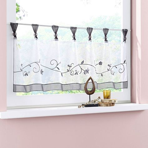 Floral Window Treatments Sale   Ease Bedding With Style Within Floral Watercolor Semi Sheer Rod Pocket Kitchen Curtain Valance And Tiers Sets (View 10 of 50)