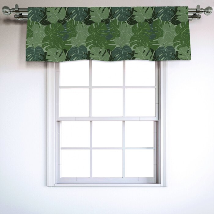 """Forest Green 54"""" Window Valance Within Forest Valance And Tier Pair Curtains (View 8 of 30)"""
