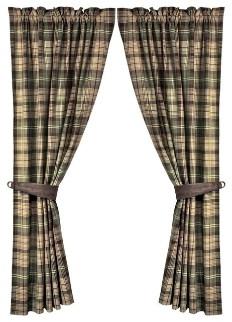 Forest Plaid Curtain Set With Regard To Forest Valance And Tier Pair Curtains (View 10 of 30)