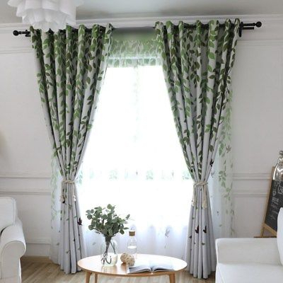 Fresh Forest Birds Sheers Hot Window Blackout Cloth Curtain New Bedroom 1  Piece   Ebay With Regard To Forest Valance And Tier Pair Curtains (View 12 of 30)