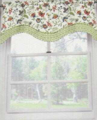Gardinen & Vorhänge Waverly Home Ceylon Blue Floral Scallop Throughout Floral Pattern Window Valances (View 21 of 50)