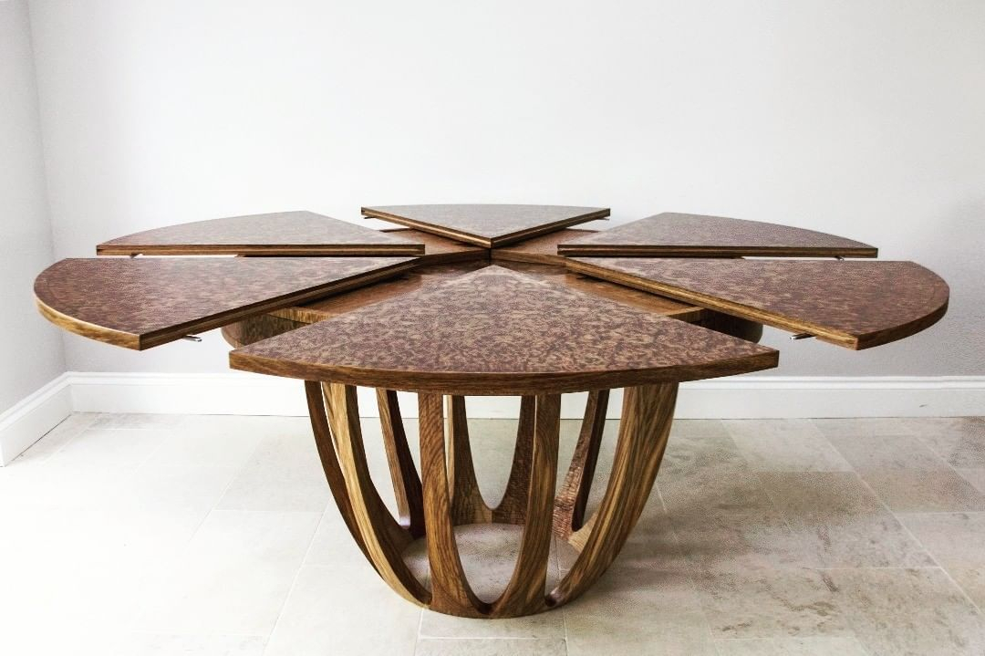 """George Johnson On Instagram: """"My Brown Oak Burr Dining Table Within Recent Johnson Round Pedestal Dining Tables (View 2 of 20)"""