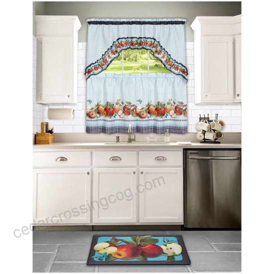 Golden Delicious, Printed Tier And Swag Window Curtain Set Pertaining To Delicious Apples Kitchen Curtain Tier And Valance Sets (View 23 of 30)