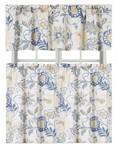 Goodgram Ultra Luxurious Palm Beach Floral Shabby Kitchen Within Grey Window Curtain Tier And Valance Sets (View 29 of 50)