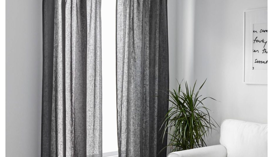 Gray And White Living Room Curtains Pair Grey Black Bath Pertaining To Luxury Light Filtering Straight Curtain Valances (View 42 of 47)