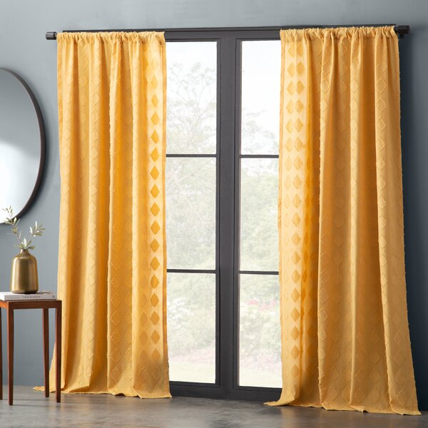 Gray Microfiber Curtains | Wayfair Regarding Ivory Micro Striped Semi Sheer Window Curtain Pieces (#14 of 50)