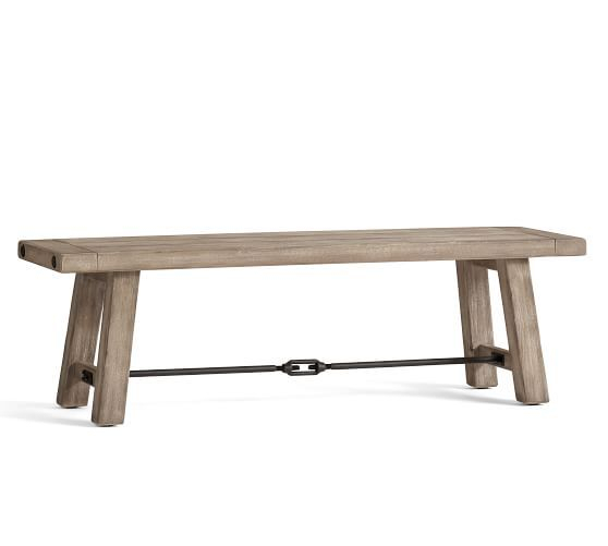"Gray Wash Benchwright Extending Dining Tables In Famous Benchwright Dining Bench, Gray Wash, 60""l X 16""w In  (#10 of 20)"