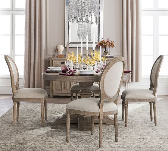 Gray Wash Lorraine Extending Dining Tables Inside Newest 15 Best Pottery Barn Dining Tables On Sale! (#9 of 20)