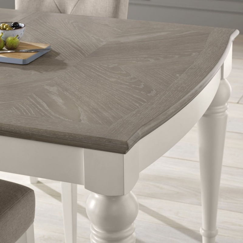 Gray Wash Toscana Extending Dining Tables Regarding Well Known Grey Wash Dining Table White Proverbs Girl (#10 of 20)