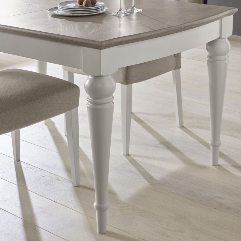 Gray Wash Toscana Extending Dining Tables Within Current Grey Wash Dining Table White Proverbs Girl (#11 of 20)