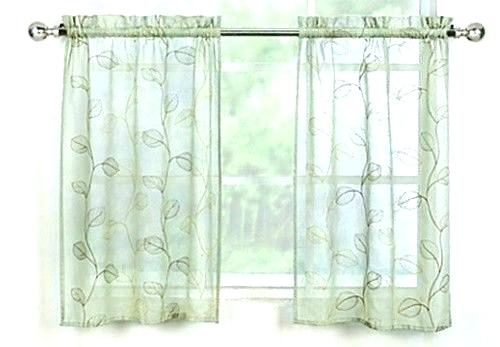 Green Curtains Walmart – Nemesis Group Within Embroidered Rod Pocket Kitchen Tiers (View 21 of 49)