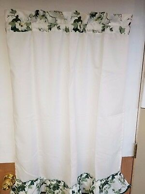 "Green Ivy 36"" Tiers Curtain 