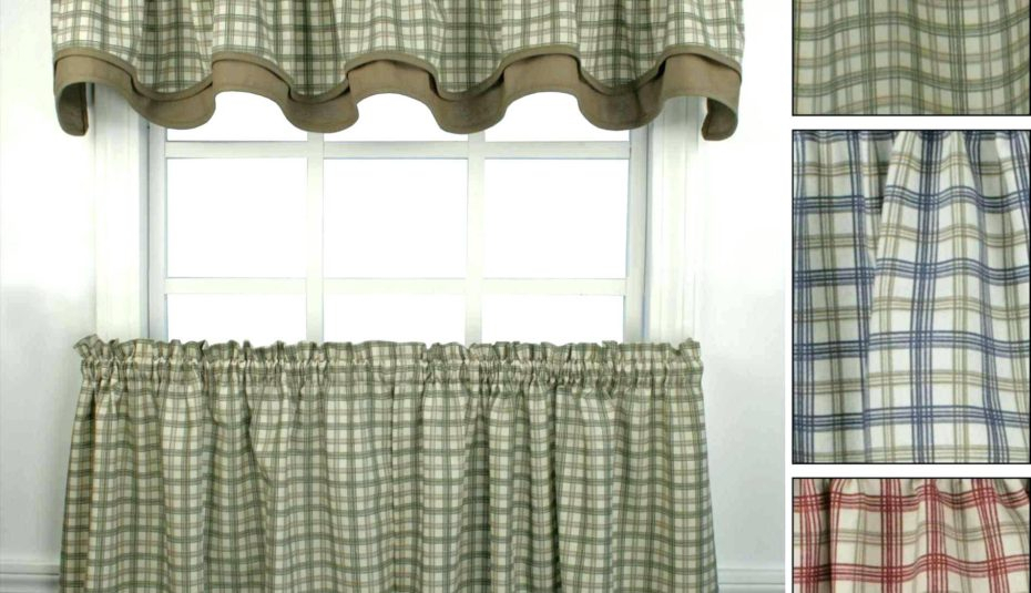 Green Plaid Kitchen Curtains Ideas Photos Grey Target Best Intended For Cotton Blend Grey Kitchen Curtain Tiers (View 20 of 47)