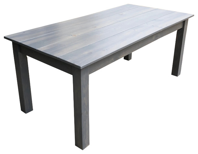 Grey Farmhouse Table, 36 Throughout Newest Gray Wash Toscana Extending Dining Tables (#12 of 20)