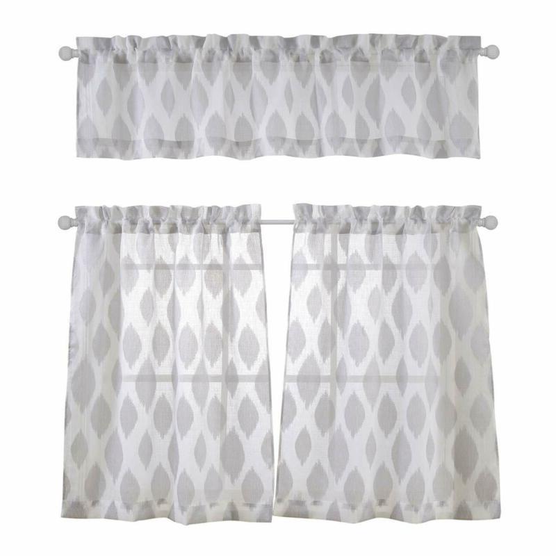 Grey Kitchen Curtains | Kitchencurtains Regarding Cotton Blend Grey Kitchen Curtain Tiers (View 21 of 47)