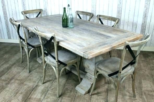 Grey Washed Round Dining Table – Blogie Throughout Most Recent Gray Wash Banks Pedestal Extending Dining Tables (#13 of 20)