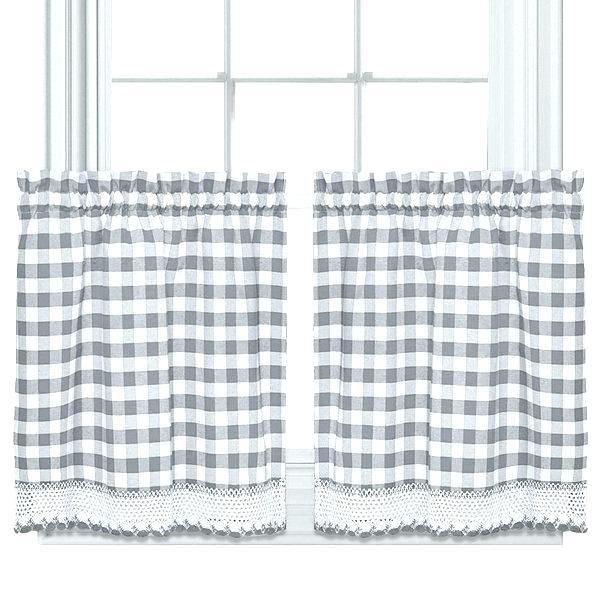 Grey Window Valance Complex Modern Farmhouse Kitchen Black Regarding Cotton Blend Grey Kitchen Curtain Tiers (View 22 of 47)