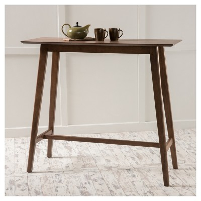 "Griffin Reclaimed Wood Bar Height Tables With Well Liked Moria 42"" Bar Table – Natural Walnut – Christopher Knight (#13 of 30)"