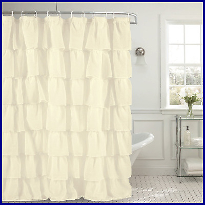 Gypsy Crushed Voile Ruffle Kitchen Window Curtain 12 Regarding Elegant Crushed Voile Ruffle Window Curtain Pieces (View 25 of 45)