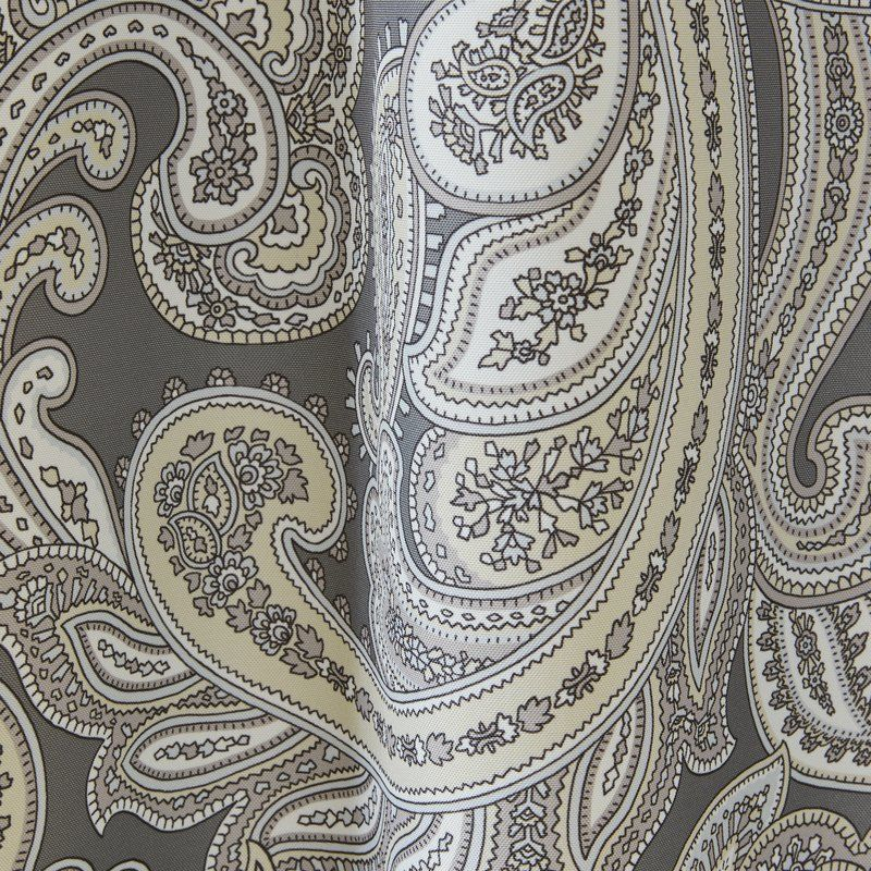 Haffner Paisley Room Darkening Grommet Single Curtain Panel Regarding Pastel Damask Printed Room Darkening Kitchen Tiers (#23 of 50)