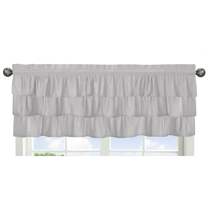 """Harper 54"""" Window Valance For White Tone On Tone Raised Microcheck Semisheer Window Curtain Pieces (#25 of 46)"""