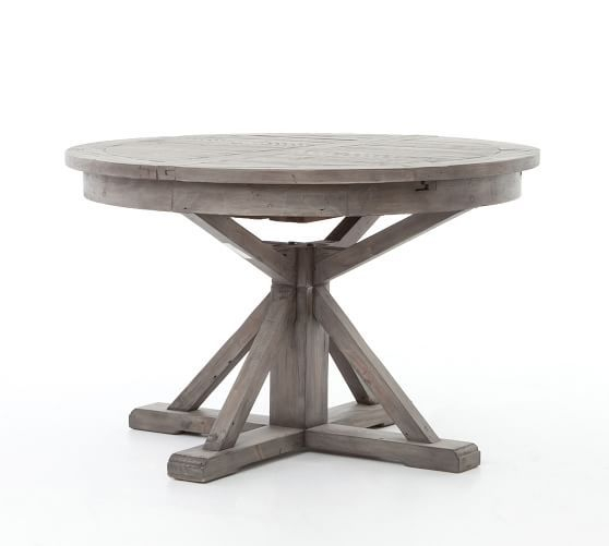 Hart Extending Dining Table, Driftwood/limestone White, 63 Pertaining To Latest Hart Reclaimed Extending Dining Tables (#9 of 20)