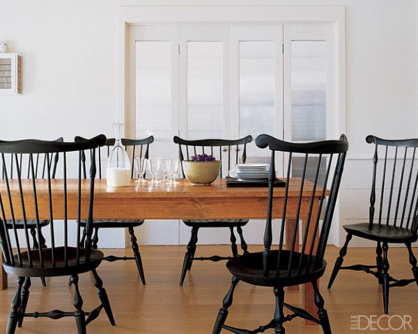 Hearst Oak Wood Dining Tables With Regard To Most Recently Released I Like The Dark/light Contrast Of Black Fanback Chairs With (#15 of 20)