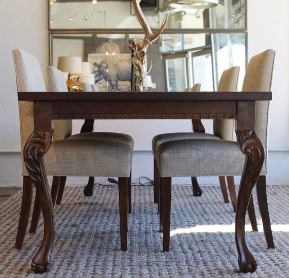 Hearst Oak Wood Dining Tables Within Popular Hearst Dining Table Featuring Ball And Claw Cabriole Legs (#16 of 20)