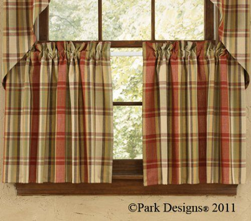 Popular Photo of Red Primitive Kitchen Curtains