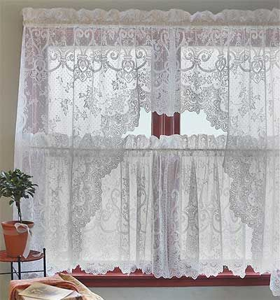Heritage Lace – English Ivy 24X38, 24X50 | Lace Tiers | Tier With Regard To Cottage Ivy Curtain Tiers (#26 of 49)