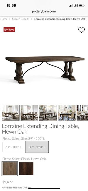 Hewn Oak Lorraine Extending Dining Tables Inside Widely Used Pottery Barn Dining Table For Sale In Lutz, Fl – Offerup (#9 of 30)