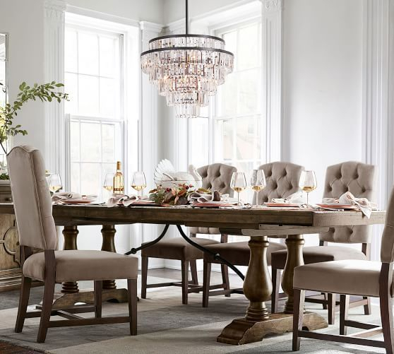 Popular Photo of Hewn Oak Lorraine Extending Dining Tables