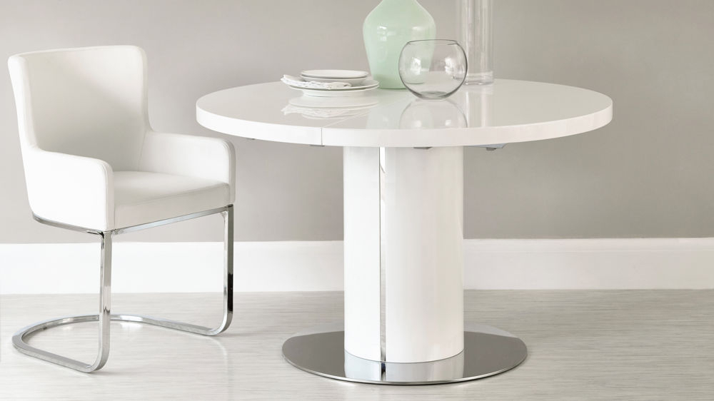 High Gloss Extending Dining Table Sets (View 20 of 20)