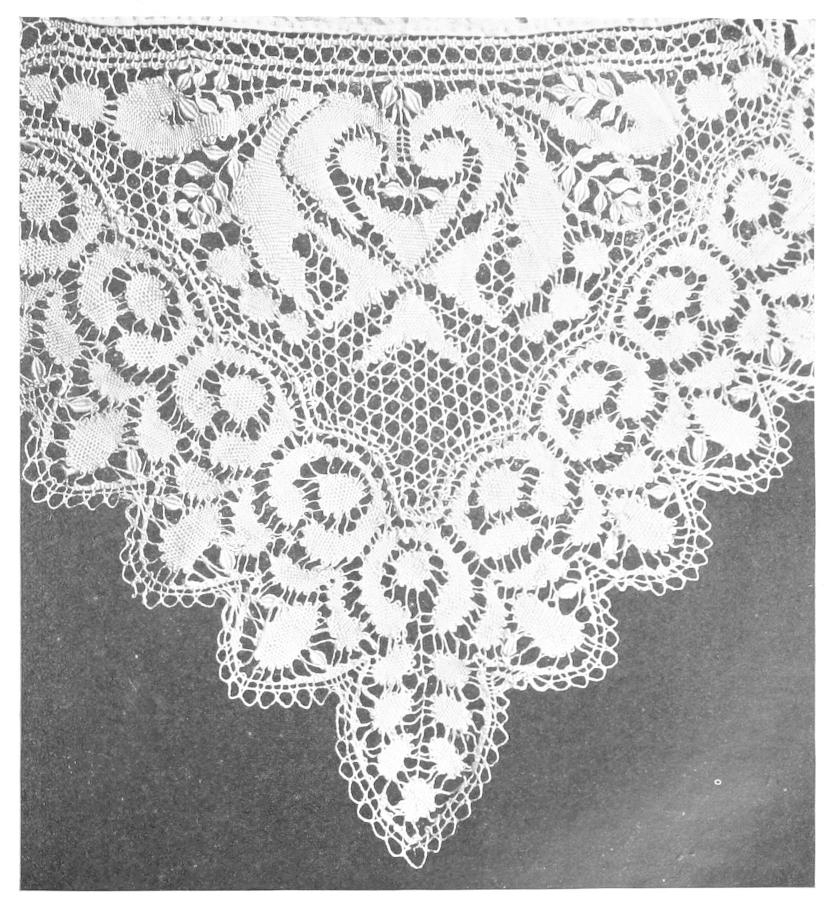 History Of Lace Intended For Cotton Classic Toast Window Pane Pattern And Crotchet Trim Tiers (View 28 of 50)