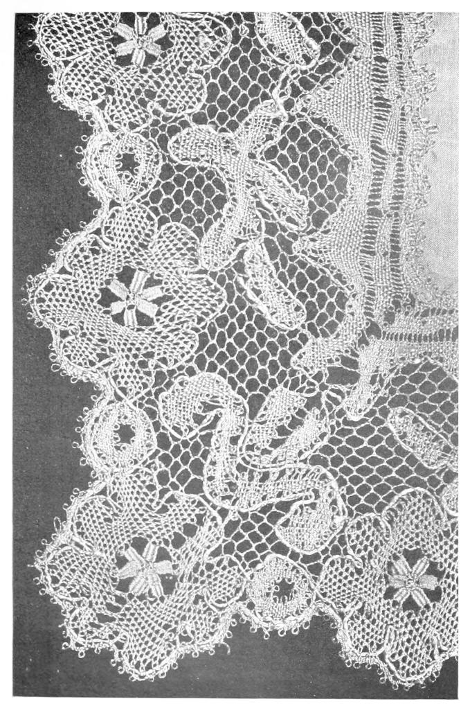 History Of Lace Regarding Cotton Classic Toast Window Pane Pattern And Crotchet Trim Tiers (View 29 of 50)