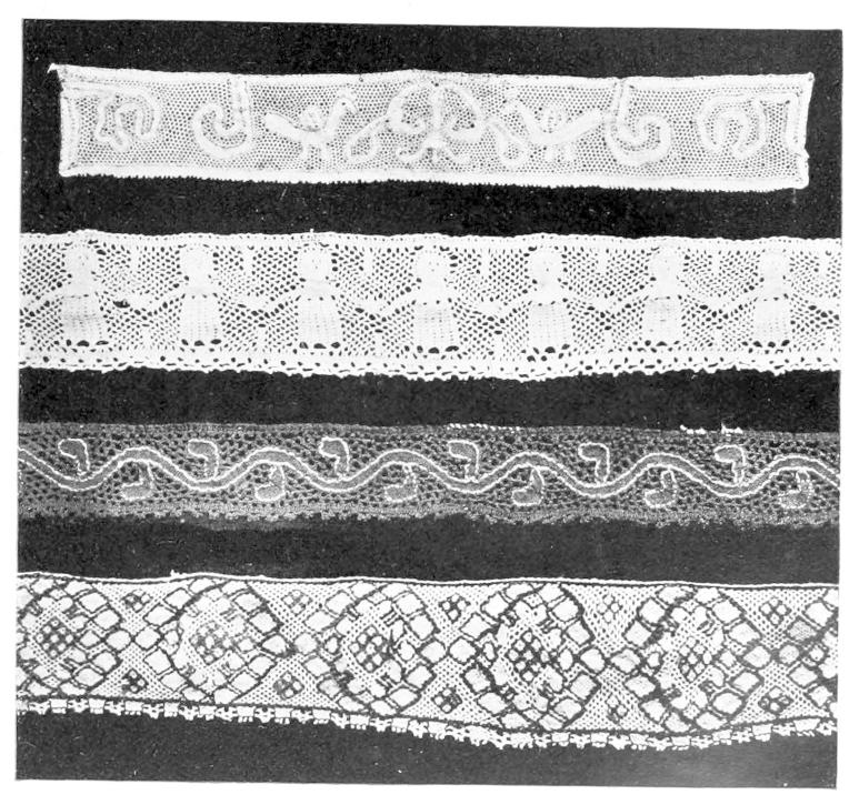History Of Lace Throughout Cotton Classic Toast Window Pane Pattern And Crotchet Trim Tiers (View 30 of 50)