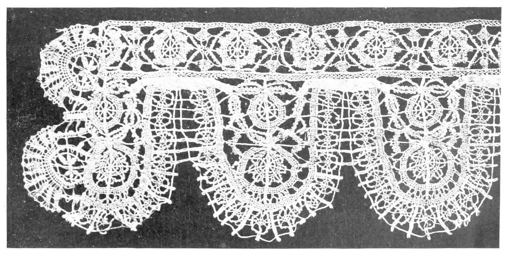History Of Lace Within Cotton Classic Toast Window Pane Pattern And Crotchet Trim Tiers (View 33 of 50)