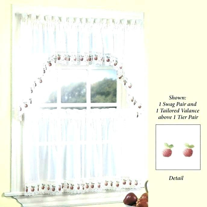 Holiday Kitchen Curtains – Treeboo Throughout Tailored Valance And Tier Curtains (#18 of 50)