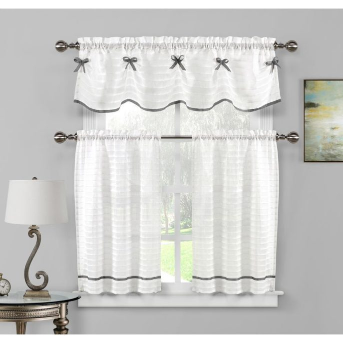Home Decor : 14 Kitchen Curtains Popular Chf You Cottage Ivy For Cottage Ivy Curtain Tiers (#30 of 49)