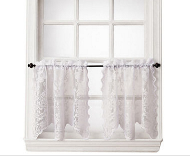 "Home Expressions Jessica Lace Rod Pocket Window Tiers 58""x36 Inside Dexter 24 Inch Tier Pairs In Green (View 17 of 30)"