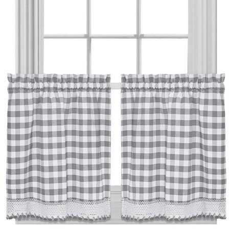 Home | Farmhouse Kitchen In 2019 | Kitchen Curtains For Dove Gray Curtain Tier Pairs (View 18 of 30)