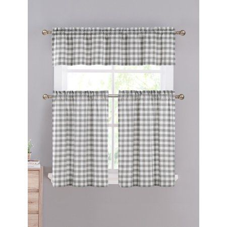 Home In 2019 | Farmhouse Kitchens | Kitchen Curtain Sets Throughout Cotton Blend Grey Kitchen Curtain Tiers (View 26 of 47)