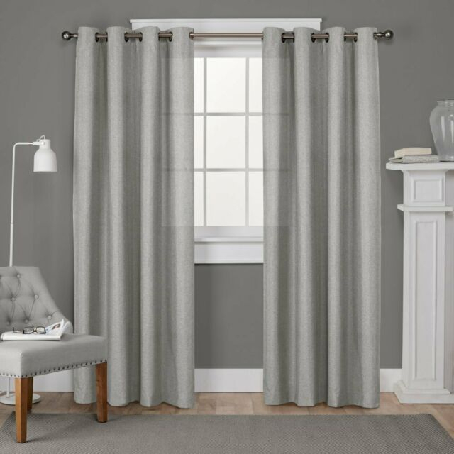 Home Loha Window Curtain Panel Pair With Dove Gray Curtain Tier Pairs (View 16 of 30)
