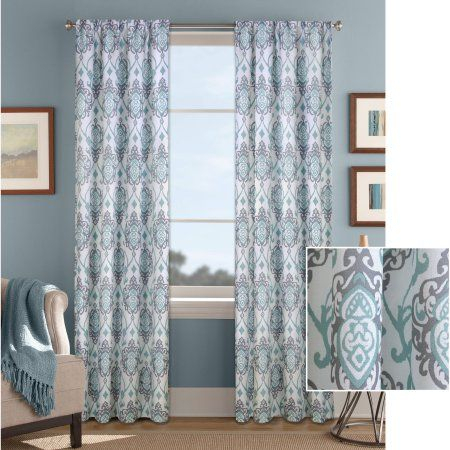 Home | Panel Curtains, Damask Curtains, Curtains Inside Pastel Damask Printed Room Darkening Kitchen Tiers (#24 of 50)