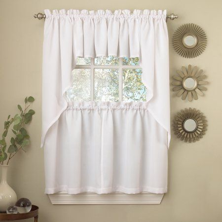 Home | Products In 2019 | Kitchen Curtains, Kitchen Window With Regard To Abby Embroidered 5 Piece Curtain Tier And Swag Sets (View 16 of 30)