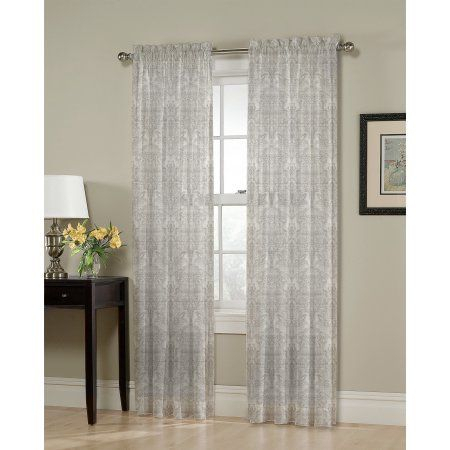 Home | Products | Panel Curtains, Curtains, Drapes Curtains With Pastel Damask Printed Room Darkening Kitchen Tiers (#25 of 50)