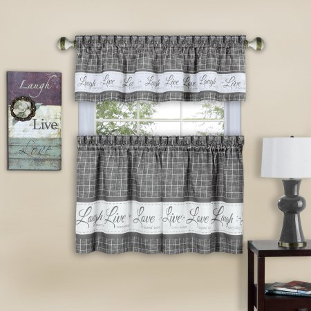 Home | Valance, Valance Curtains, Curtains With Semi Sheer Rod Pocket Kitchen Curtain Valance And Tiers Sets (View 12 of 50)